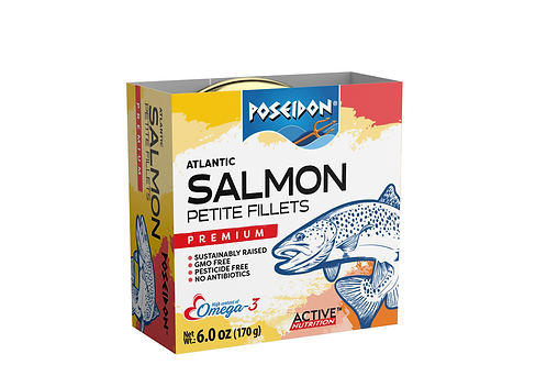 Atlantic Salmon Petite Fillets 6.0 oz. ea (case of 2 or 4)