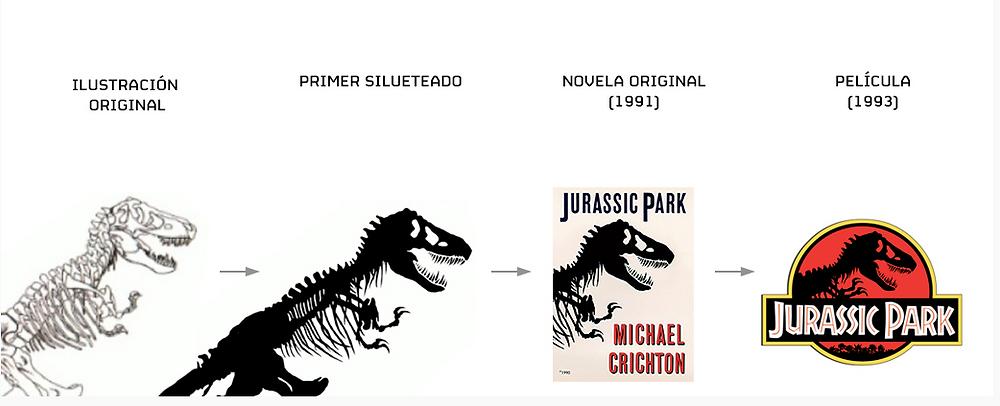 Ilustración Jurassic Park - Chip Kidd