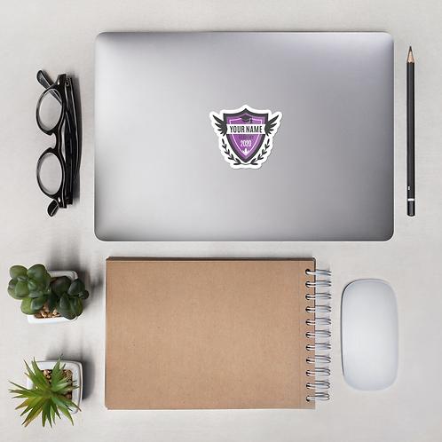 Purple Crest Bubble-free stickers