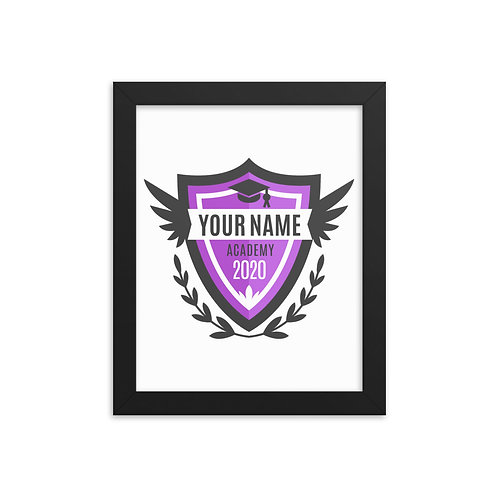 Purple Crest Framed poster