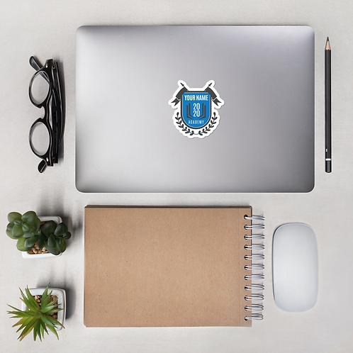 Blue Crest Bubble-free stickers