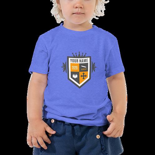 Toddler Tan Crest Short Sleeve Tee