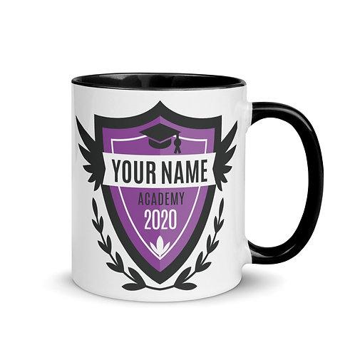Purple Crest Mug with Color Inside