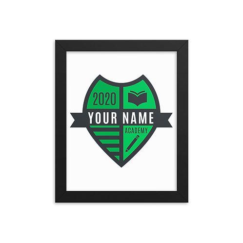 Green Crest Framed poster