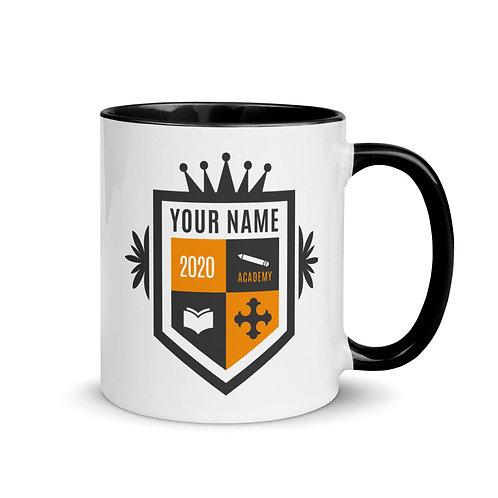Tan Crest Mug with Color Inside