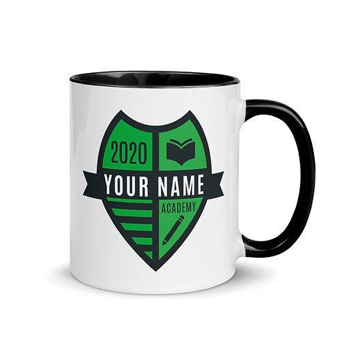 Green Crest Mug with Color Inside