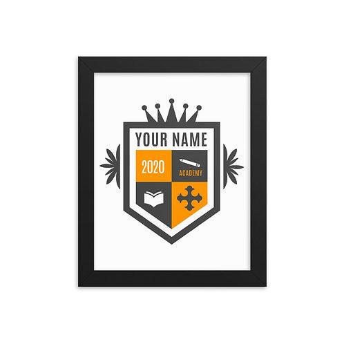 Tan Crest Framed poster