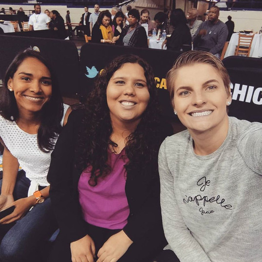 With Nadia Colhado during her offseason for a WNBA game