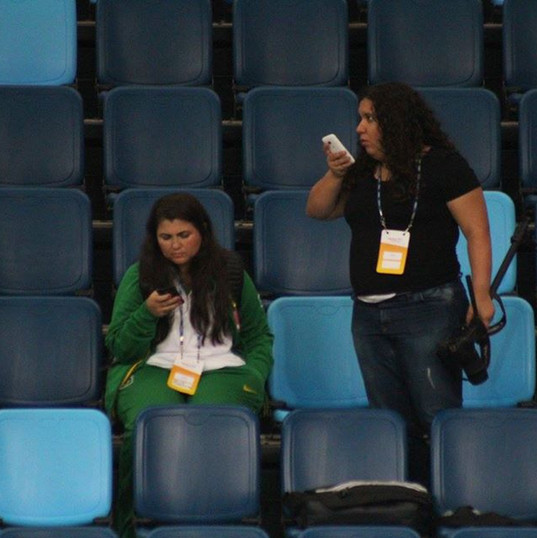 Working alongside the national federation PR during the Olympics
