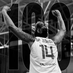 Celebratory art for 100th game in the Spanish league