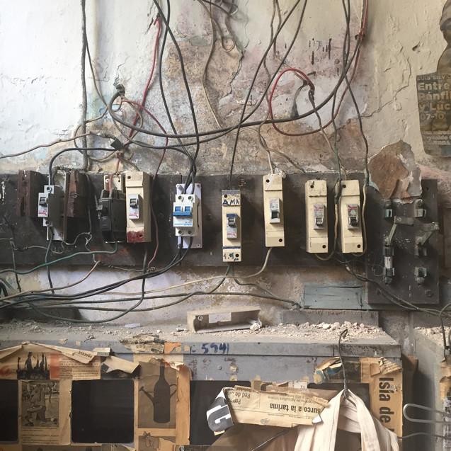 electrical panel in havana - cuba