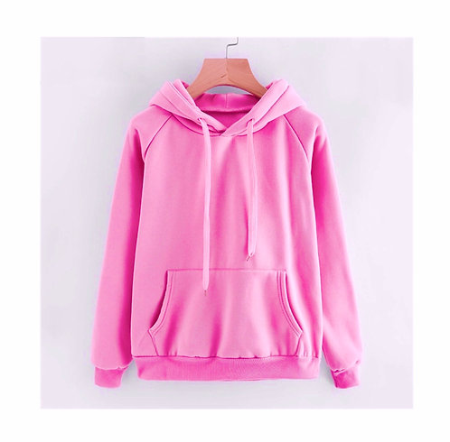 Womens Quality Pink Hoody Plus size 28/30 & 32/34