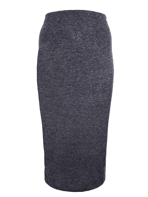 Curve Charcoal grey marl jersey skirt Plus Size 20-32 [434]