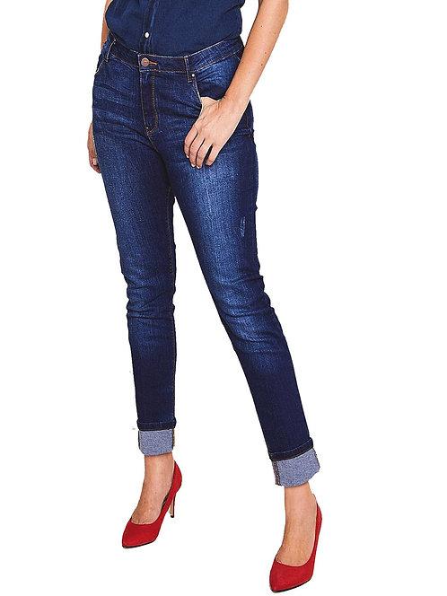 Plus Size 32 Blue slim leg stretch vintage indigo denim jeans Anthology [332]
