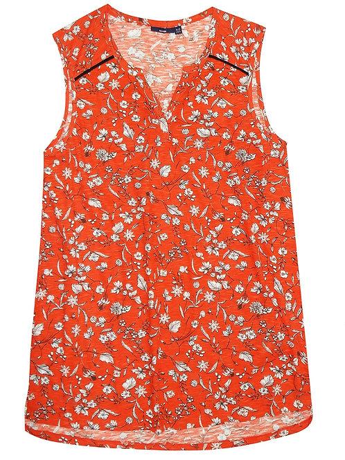 Orange Floral Sleeveless Summer Top Plus Size 18/20 22/24 30/32  [326]