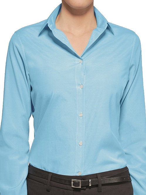 Gingham Check Aqua Shirt Plus Size 20 22  Smart work wear [289]