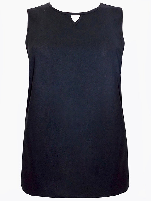 Black sleeveless Cami Top Plus Size 18/20 22/24 26/28  [312]