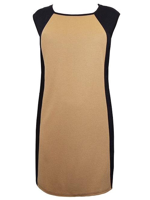 Black panel shift dress plus size 20 Thick Quality jersey