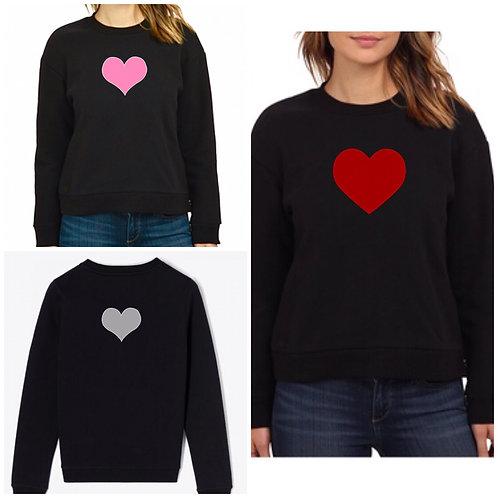 Black Heart Print Sweater Size 16 18 20