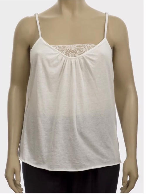 Cream lace camisole vest top Size 22/24