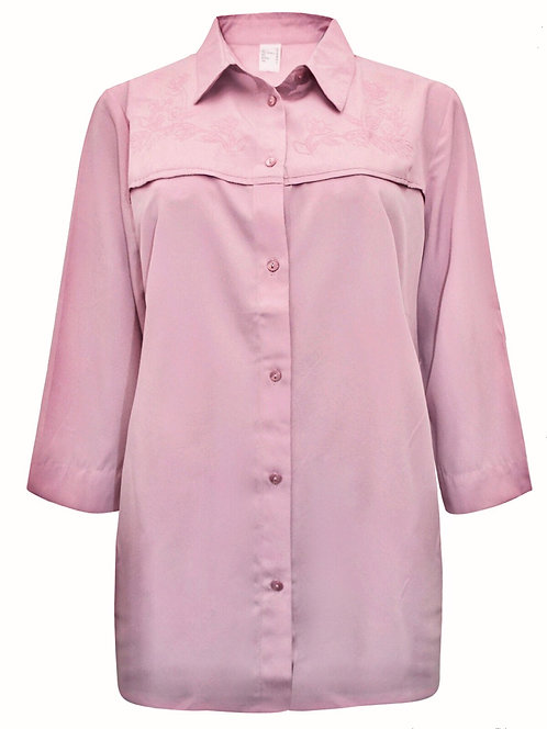 Pretty Dusky Pink Embroidered Blouse Top Plus Size 16-24  [336]
