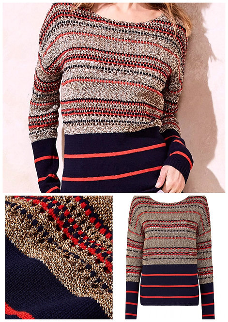 Anthology Striped Knit Jumper Plus Size 24/26 [374]