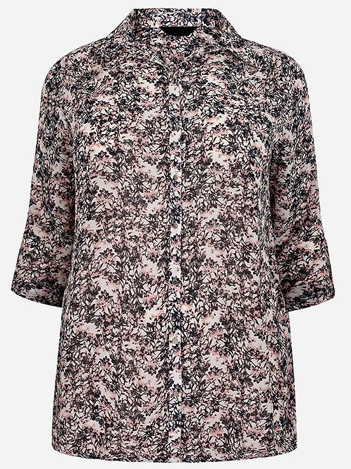 Long Silky Chiffon Shirt Ex Yours Multi Print Blouse Plus sizes 20-36 [306]
