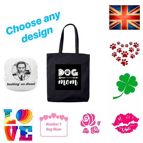 Heavy Duty Cotton Shoulder Bag Any 3 designs only £10
