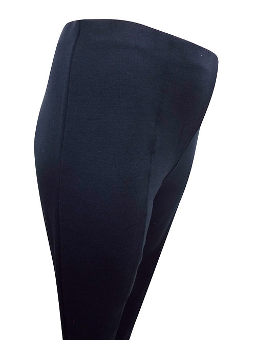 Black Treggings Plus Size 22/24 Full length stitched seam trouser leggings [337]