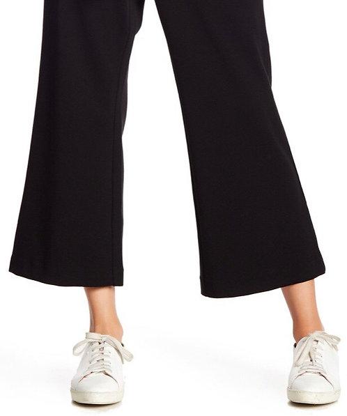 Black crop trousers plus size 18-24 Elasticated waist [195]