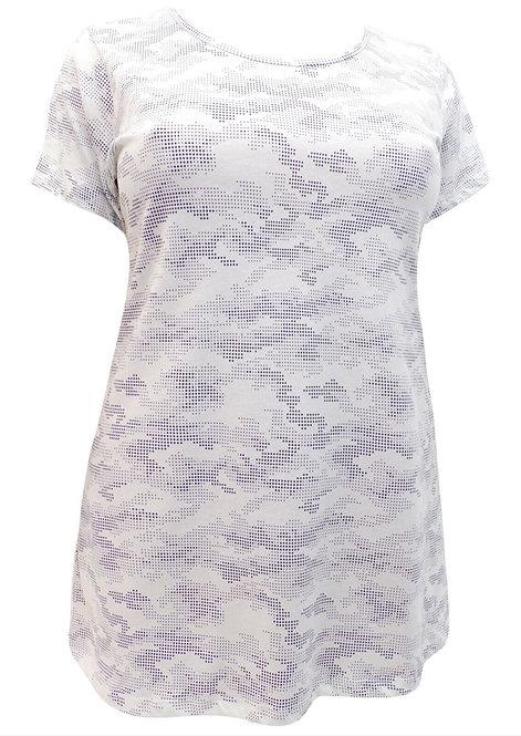 Ivans White Camo Print Top Plus Size 22/24 26/28 30/32  [245]