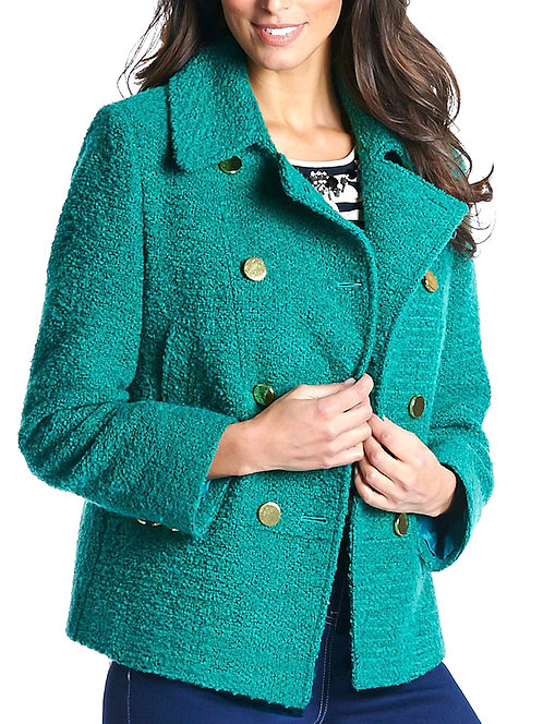 Smart Buttoned Jacket Coat Plus Size 20 22 Lined Jade green [439]