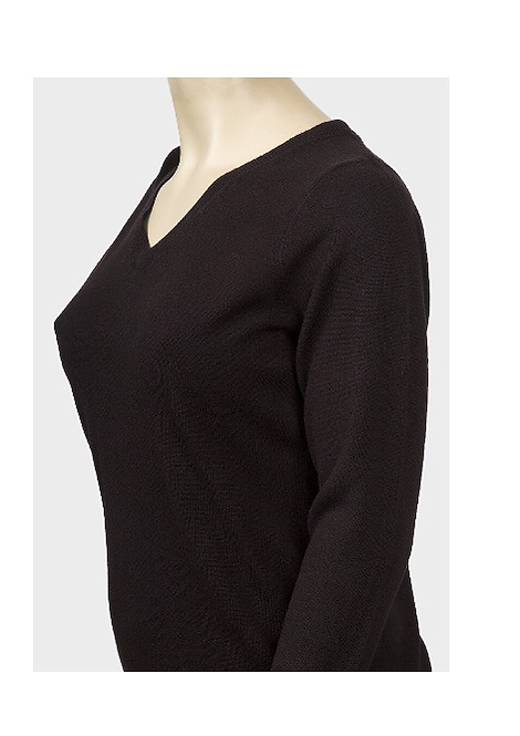 Black Knit Jumper Size 22/24 long sleeve