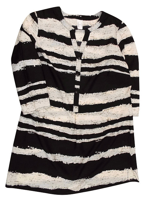 Zebra Print Blouse Plus Size 18-24 Long Length  [232]