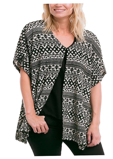 Black & Cream cardigan Plus size 26 28 30  [377]