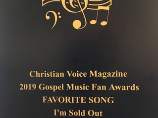 """I'm Sold Out"" awarded Favorite Song"