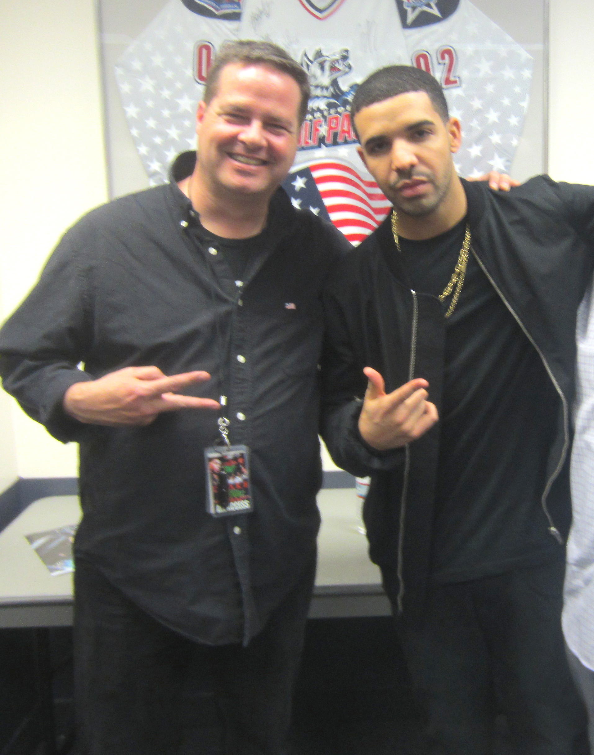 Rob Buswell and Drake