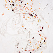 Cold War Afternoon, 2019 - Wind, Watercolour and Ink,Suminagashi and Voice, 112 x 76cm