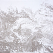 March Lapwings, 2019 - Disturbed River Water and Ink,Suminagashi and Voice, 112x 76cm