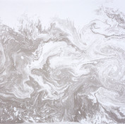 March Lapwings, 2019 - Disturbed River Water and Ink,Suminagashi and Voice, 120x 85cm, Framed