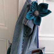 Tablier en vieux jean