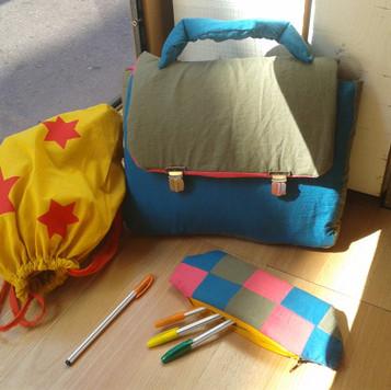 Cartables et trousse à crayon