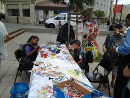 Atelier parents-enfants en plein air : fabrication de poissons