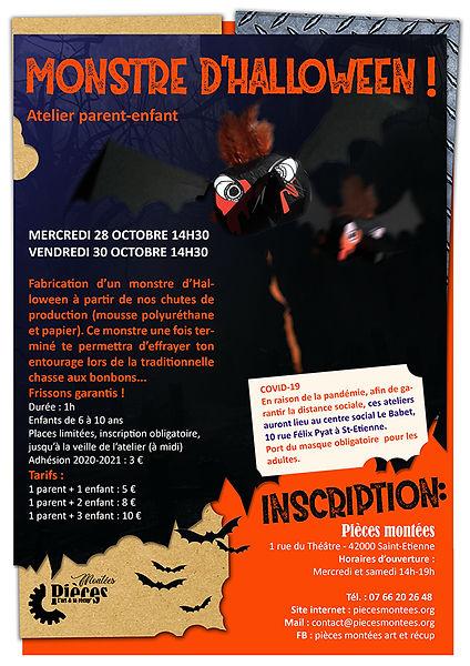 Atelier créatif et manuel Halloween : fabriques ton monstre d'Halloween, atelier parent-enfant