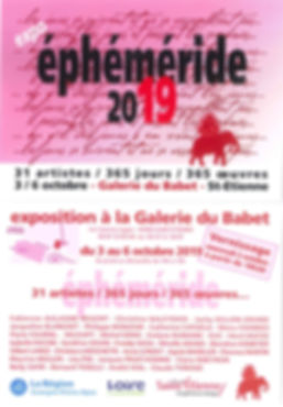 Ephemerides expo 2019 du 3 au 6 octobre 2019