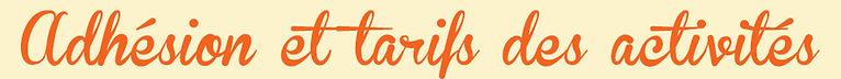 adhésion - tarifs des activités - quotient familial - Q.F. - QF - couture - art - création - aquagym - gym - Qi Gong - pilates - abdologie - chèque vacances -  le babet - centre social - St-Etienne - Loire - 42 - tarentaize - Beaubrun - Couriot