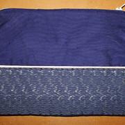Pochette bicolore bleue marine