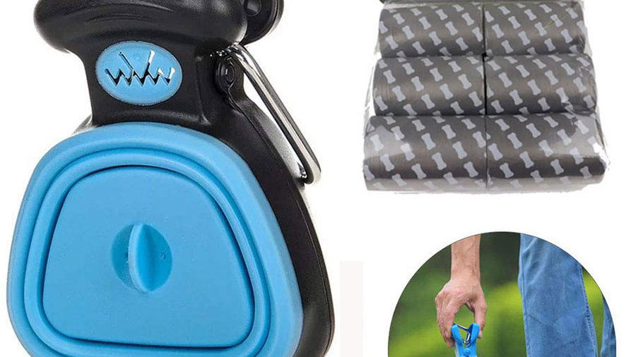 Dog Poop Bag Dispenser Travel Foldable Pooper Scooper