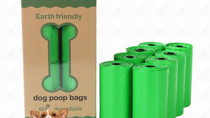 8 Rolls Compostable Dog Poop Bags