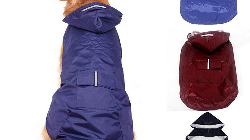 Dog Raincoat Jacket Reflective Waterproof